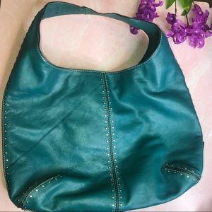 Michael Kors Teal Boho Sac Shoulder Bag